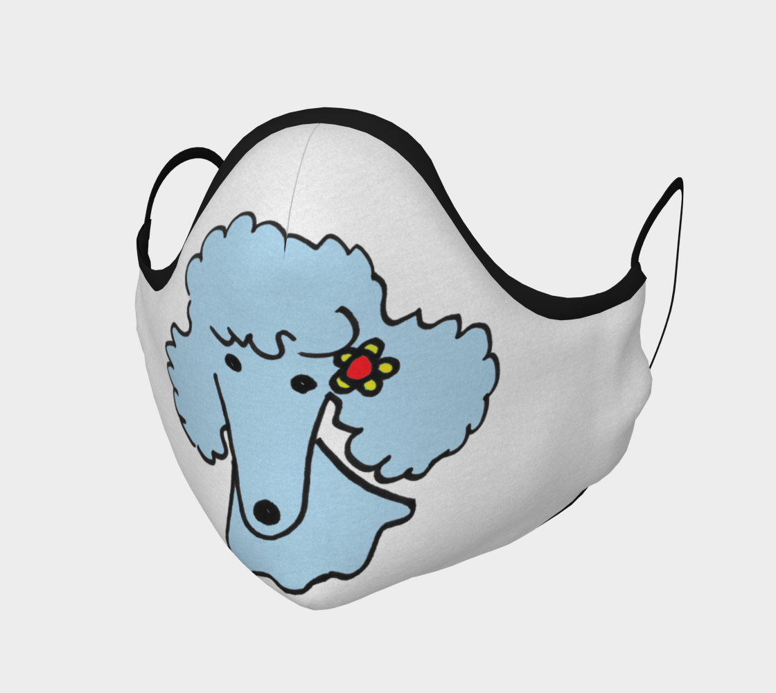 FACE MASK - Blue Spring Poodle by broussalian preview