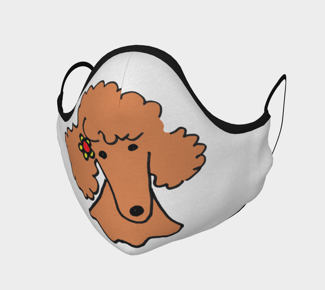 FACE MASK - Red Poodle by Broussalian aperçu