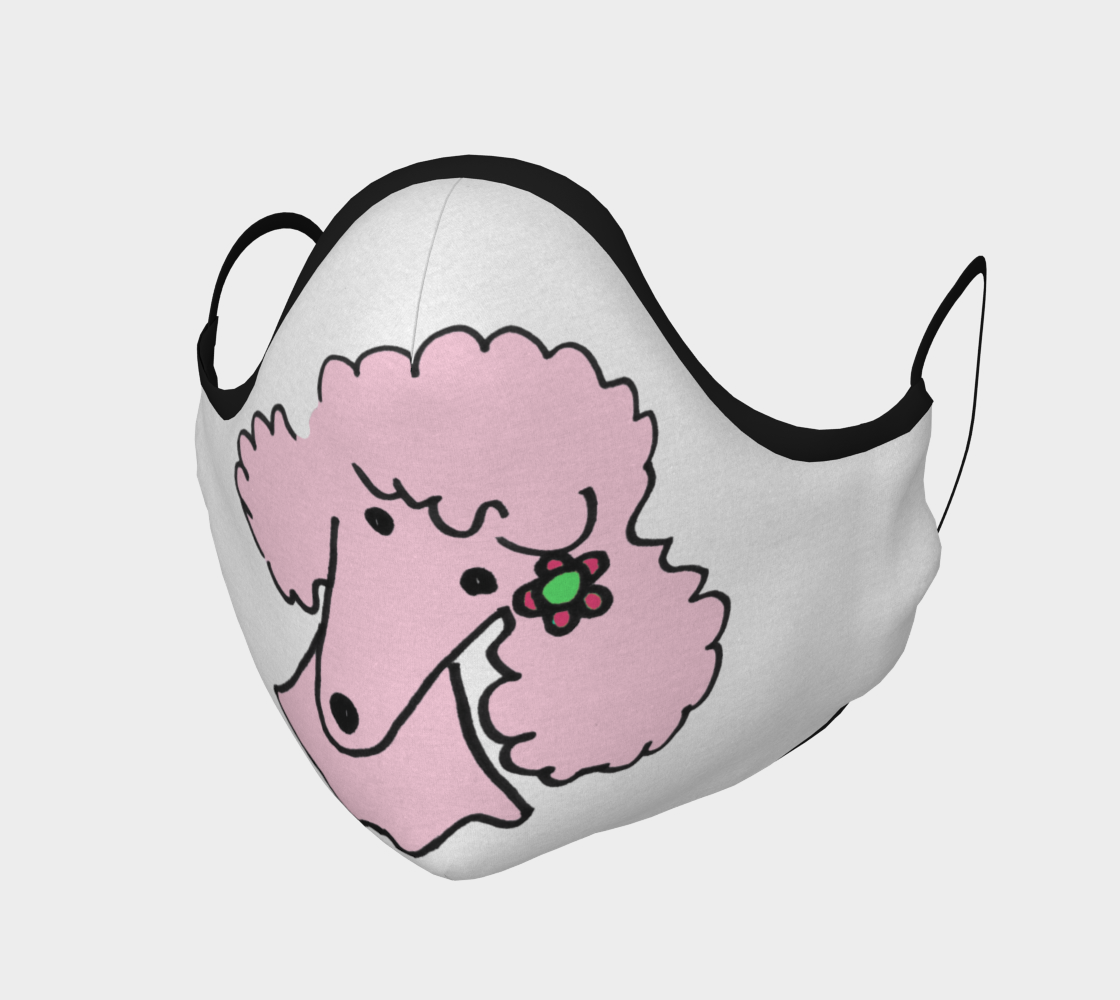 FACE MASK - Light Pink Poodle aperçu