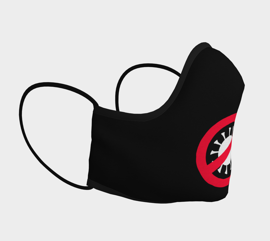 Corona Virus Covid 19 Red Ban Symbol Virus Silhouette Face Mask preview #3