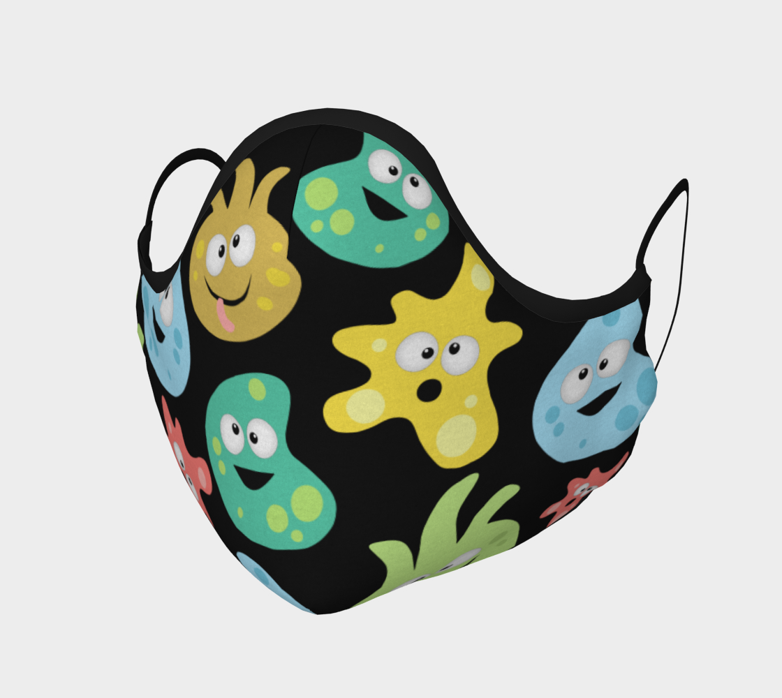 Cartoon Cute Germs Viruses Bacteria Science Face Mask preview