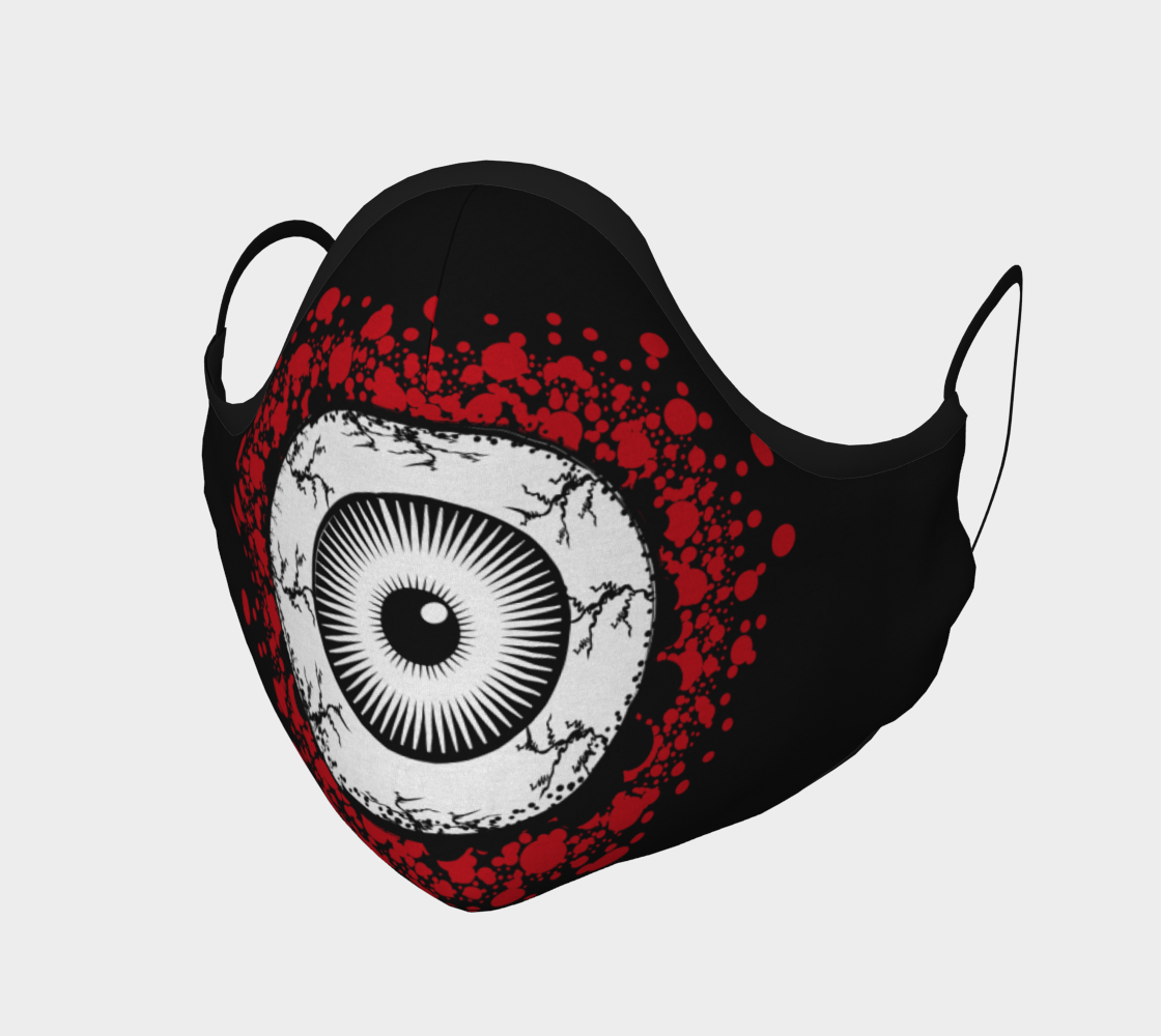 Giant Bloody Eyeball Design Face Mask preview