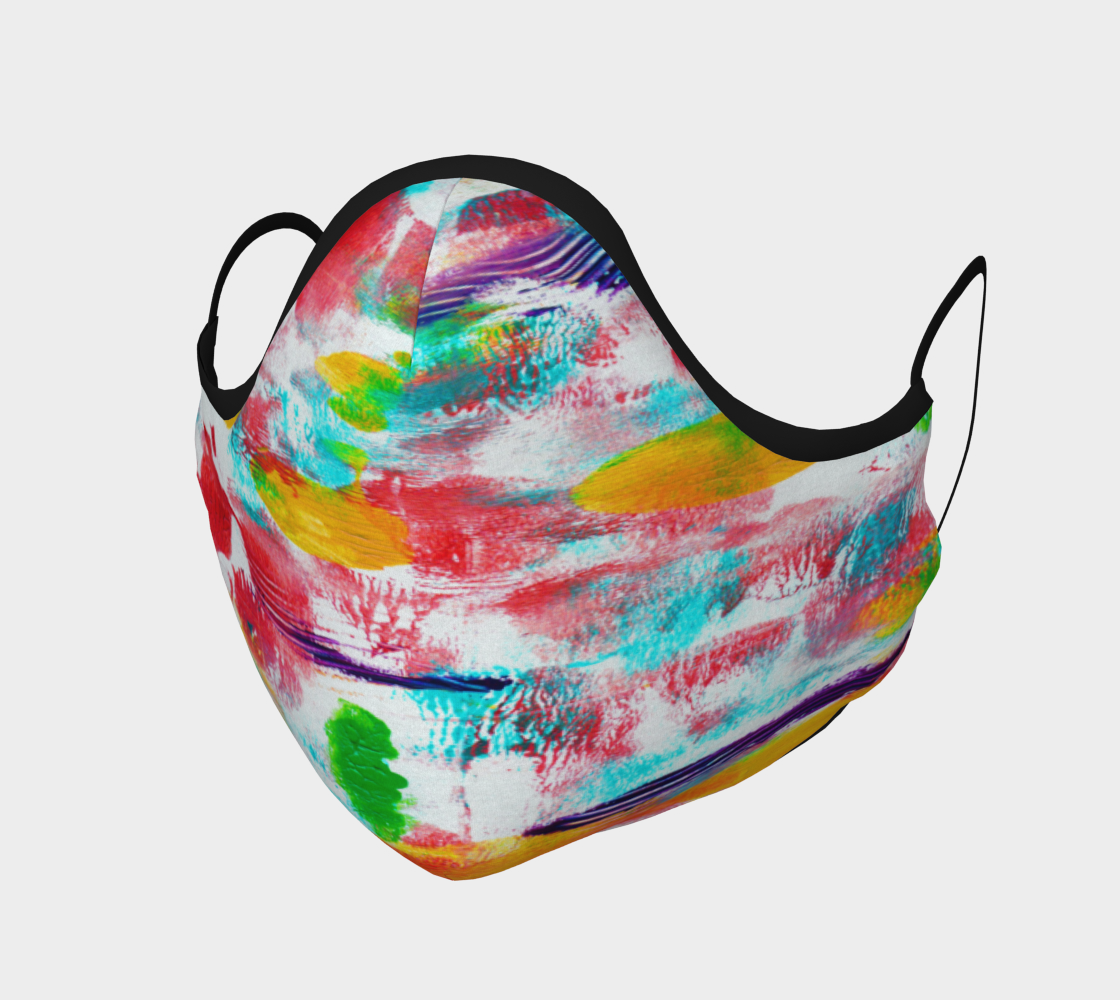 COLOURFUL ABSTRACT FACE COVERING preview #1