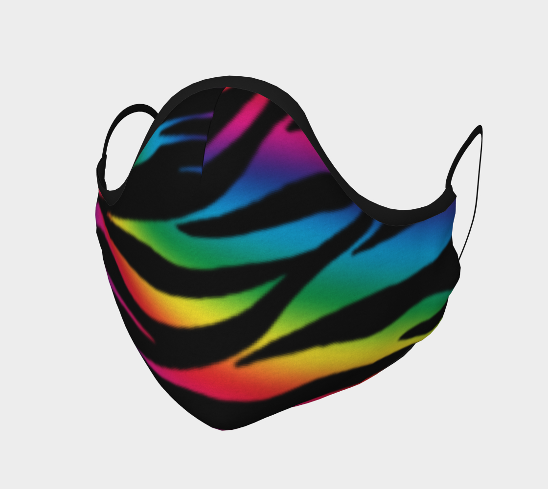 Rainbow Zebra Face Mask preview