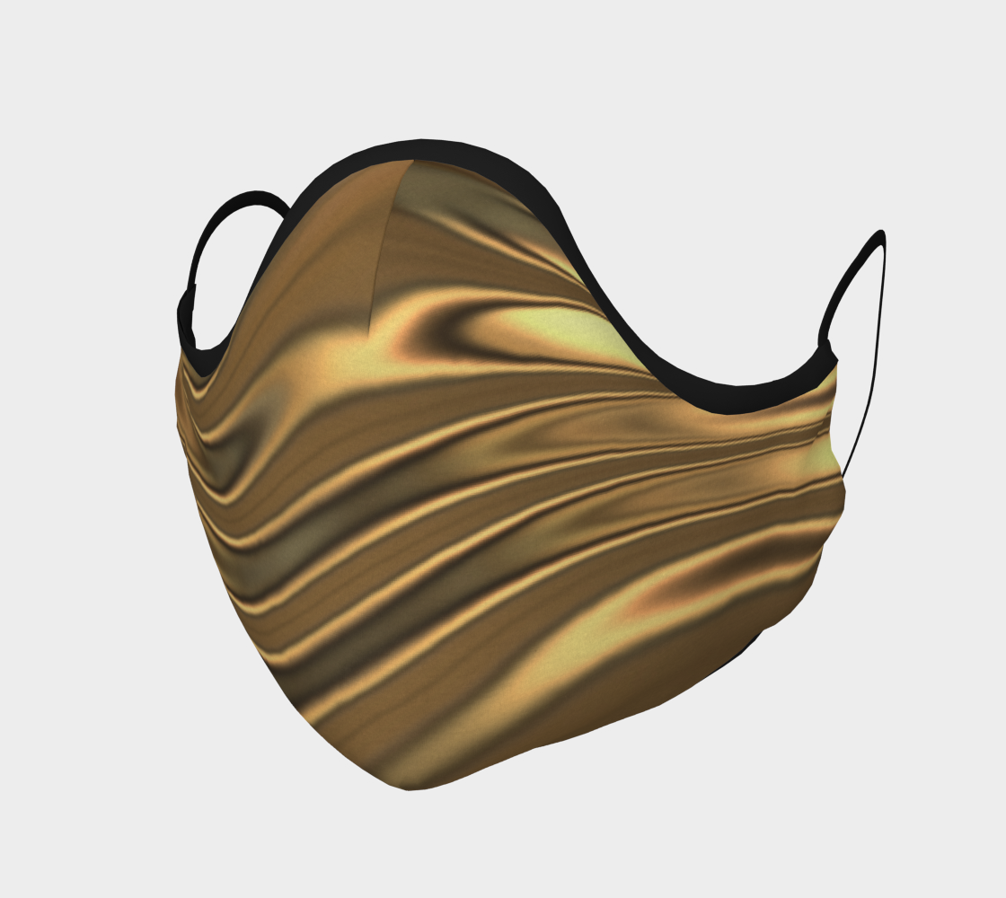 Gold Colored Face Mask Covering preview