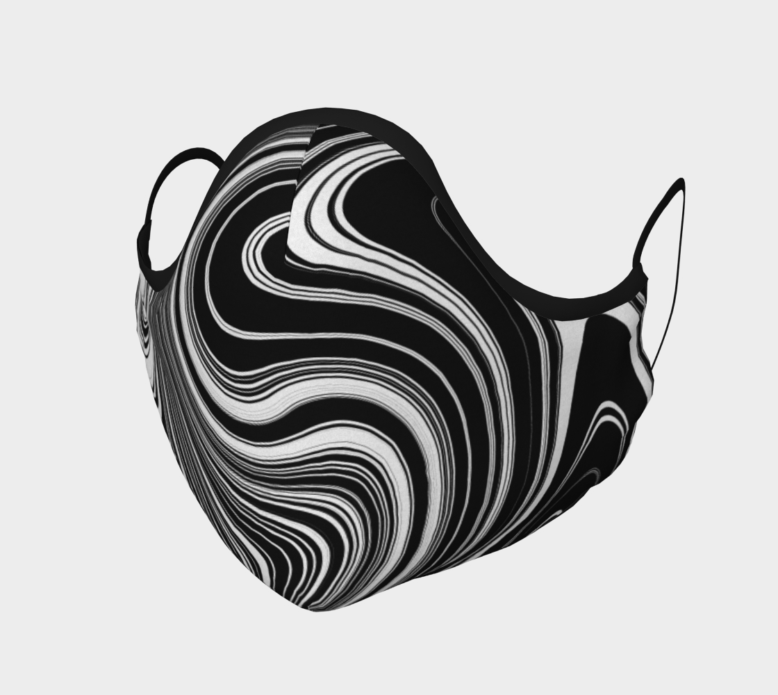 Black and White Swirls Face Mask Covering preview