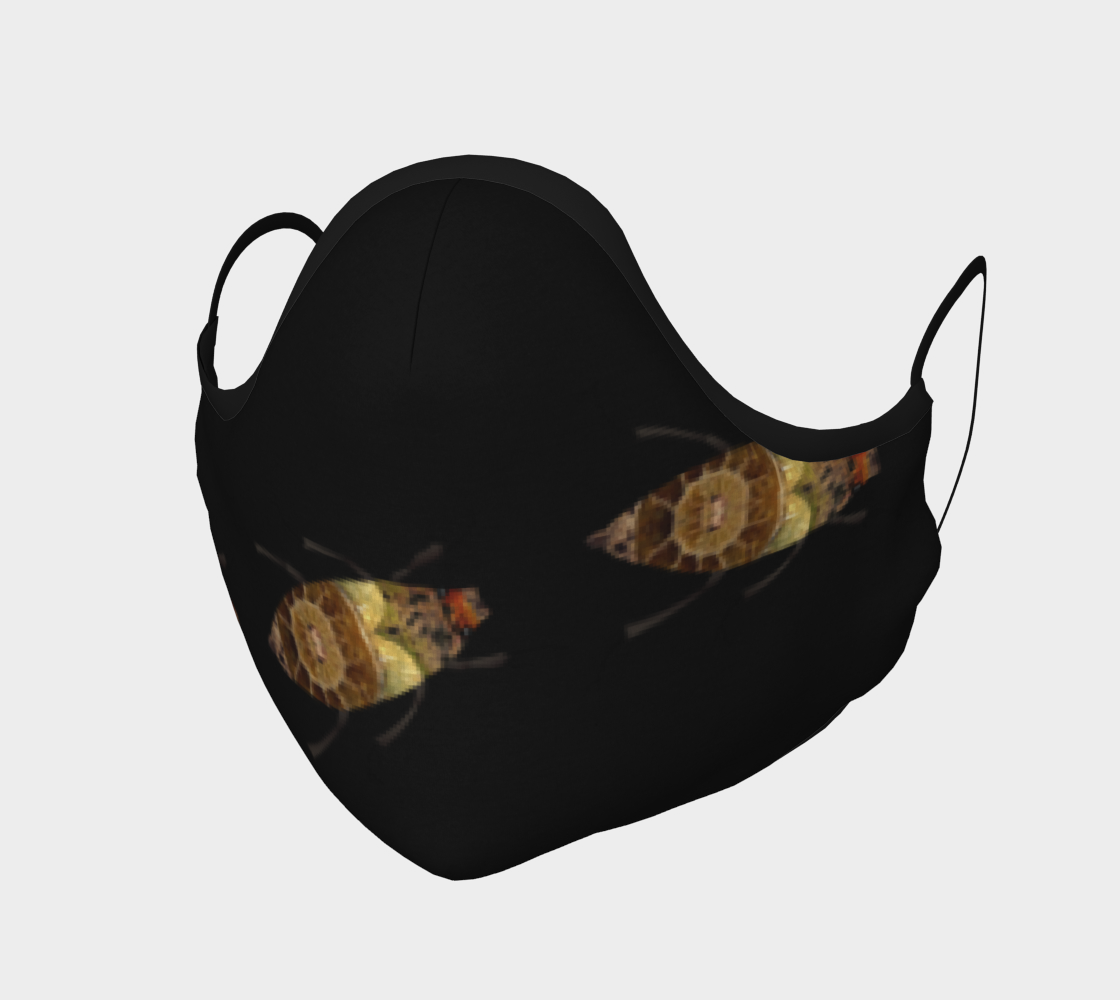 Brown Bugs on Black Mask preview
