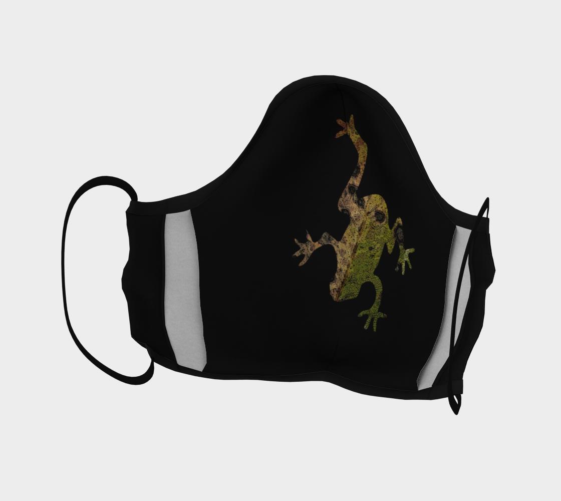 Aperçu de Green Frog on Black Mask #4