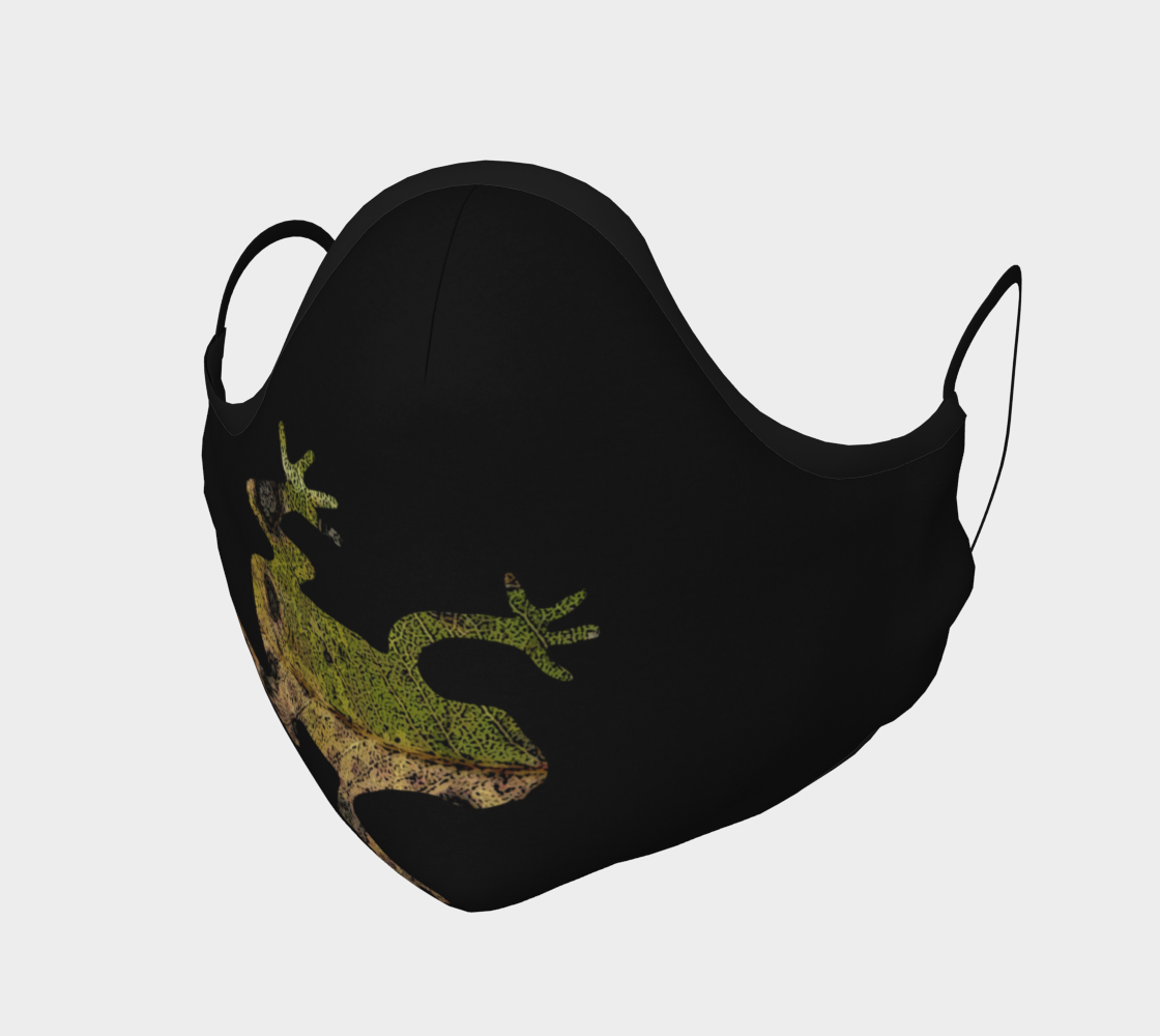 Green Frog on Black Mask preview