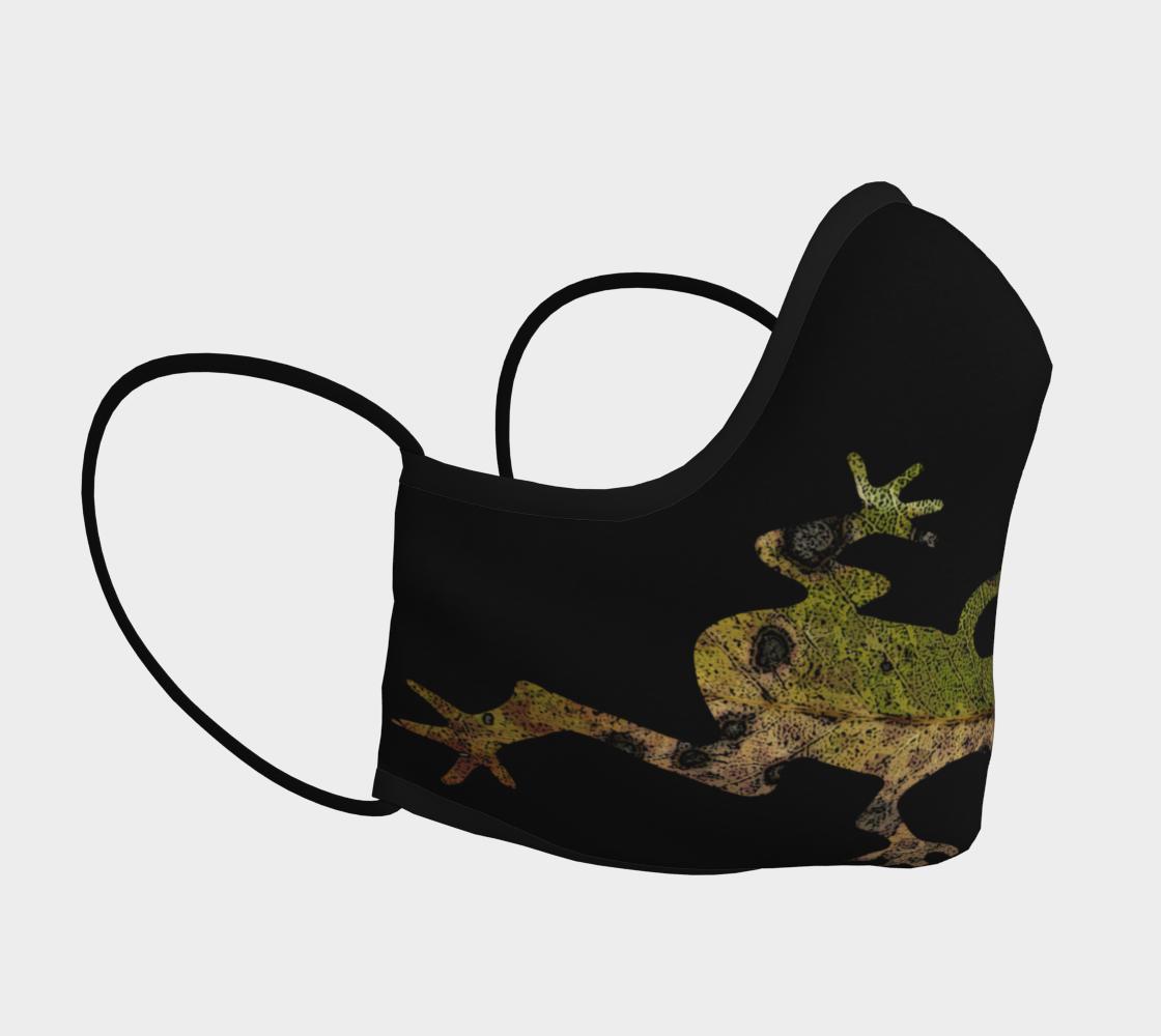 Aperçu de Green Frog on Black Mask #3