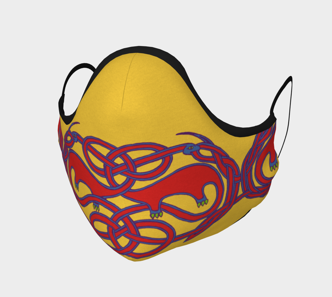 Knotwork Apatasaurus Mask preview