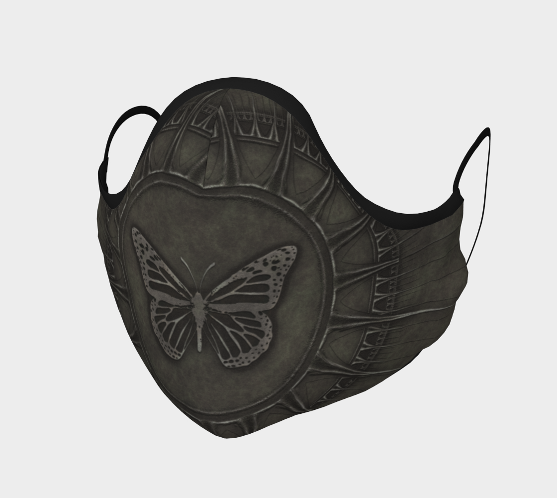 Bronze Butterfly Design Face Mask Covering preview