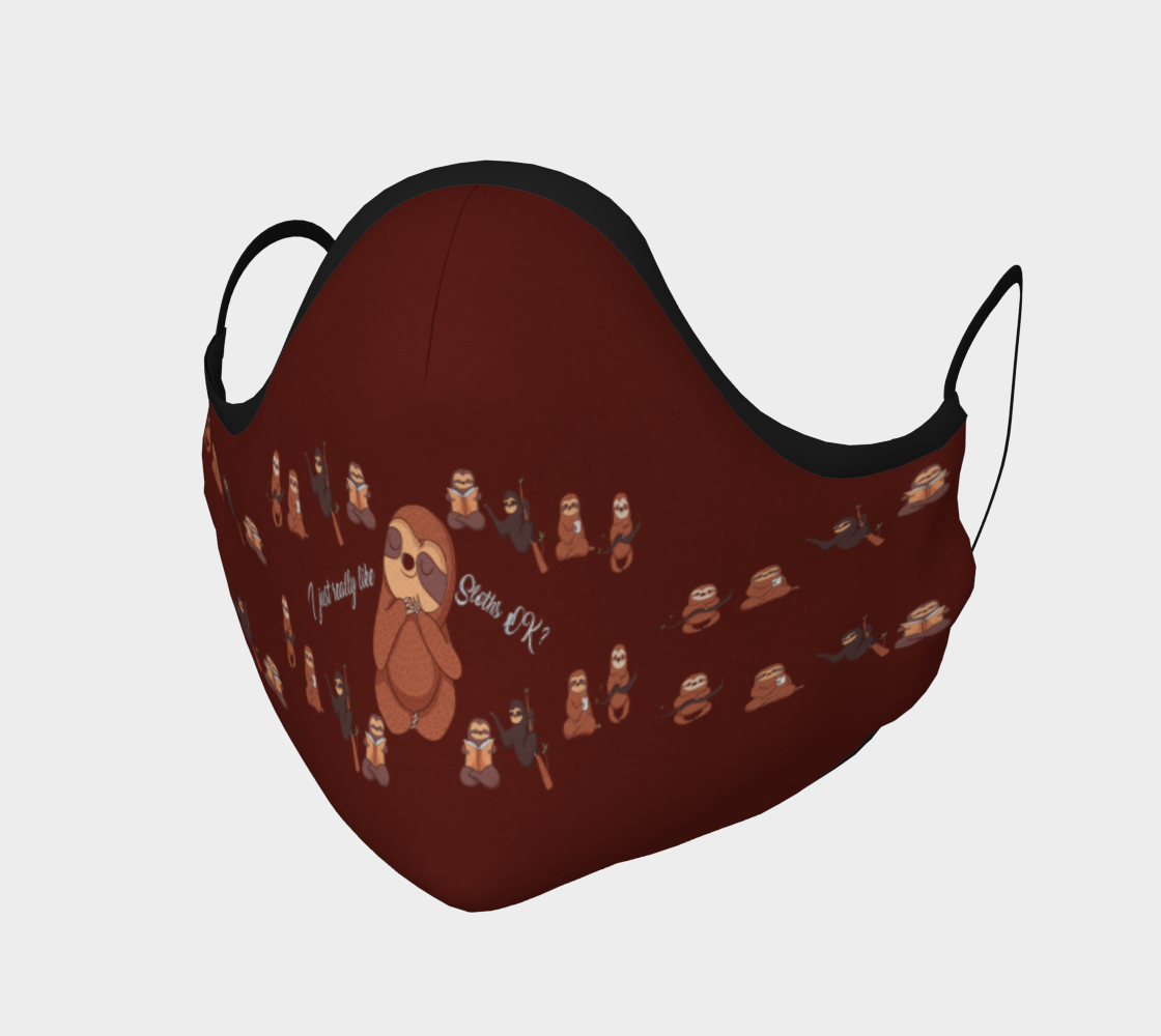 I Really Like Sloths Fashion Face Mask preview