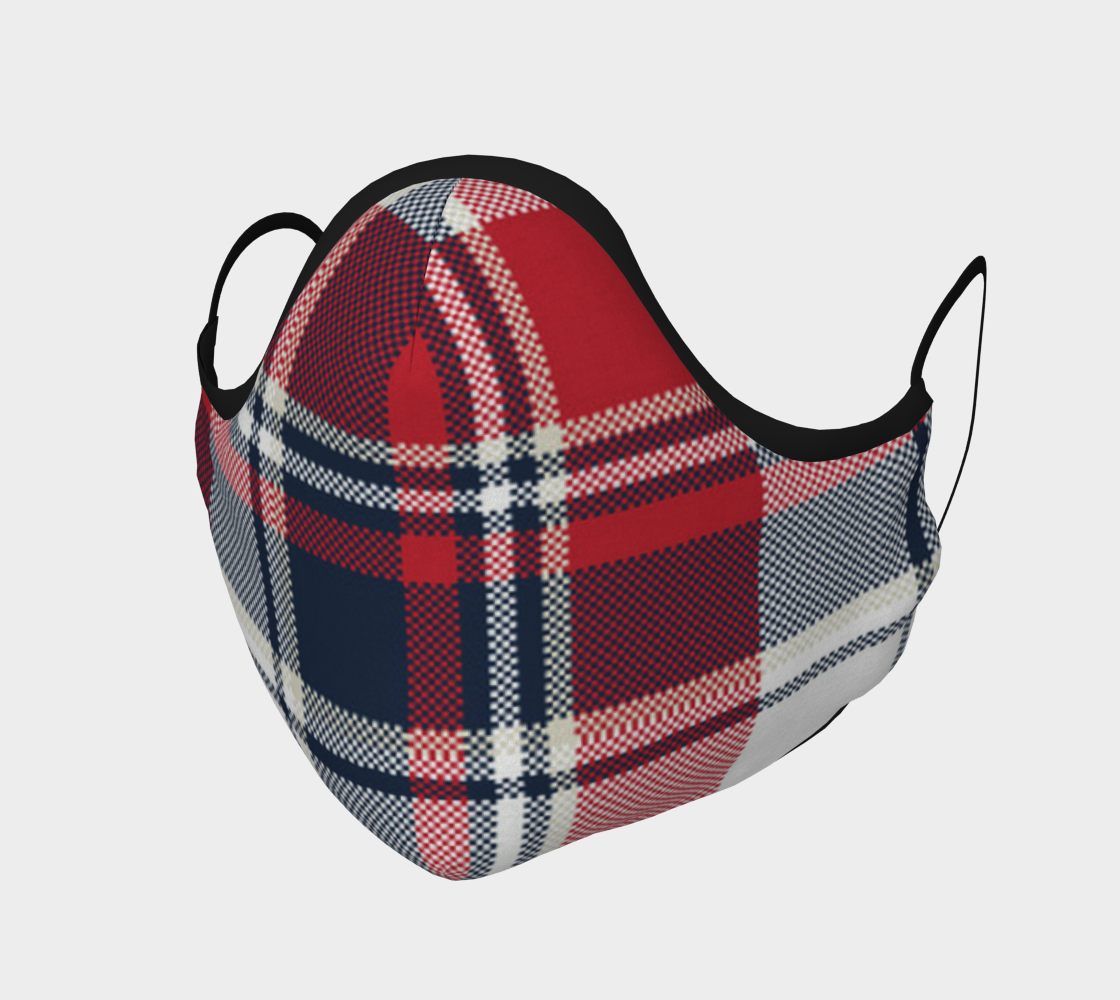 Aperçu de Tartan Plaid Face Mask