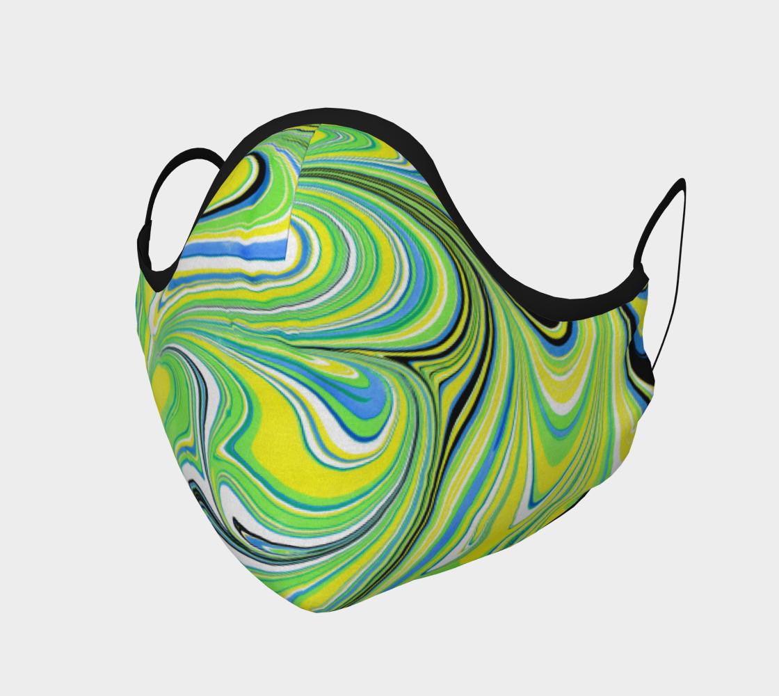 Aperçu de Masque de protection marbling Vert Espoir