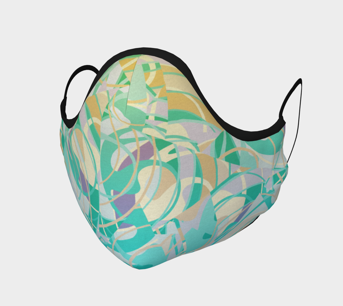 Teal and Yellow Abstract Tangles preview