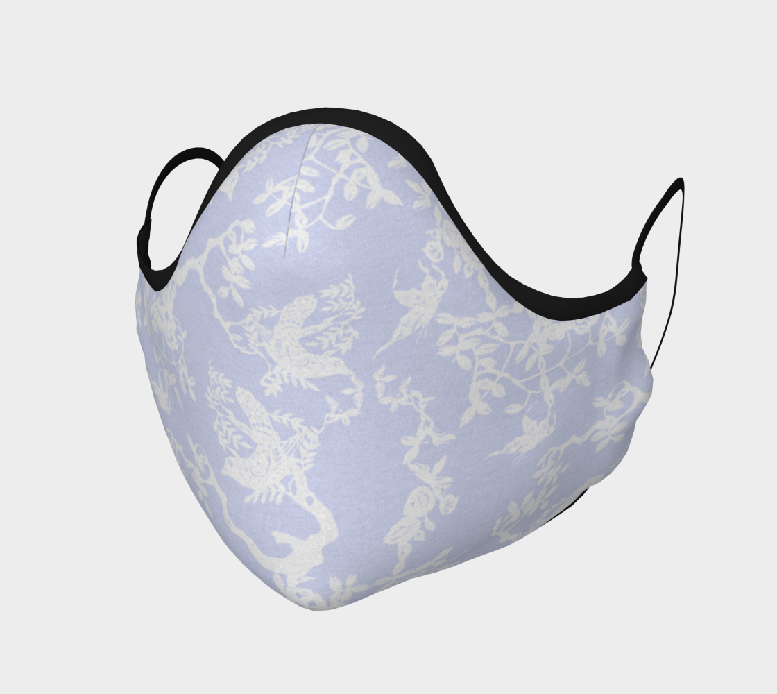 "Chinoiserie Face Covering Mask - ""Chinoiserie Birds on Branch"" 
