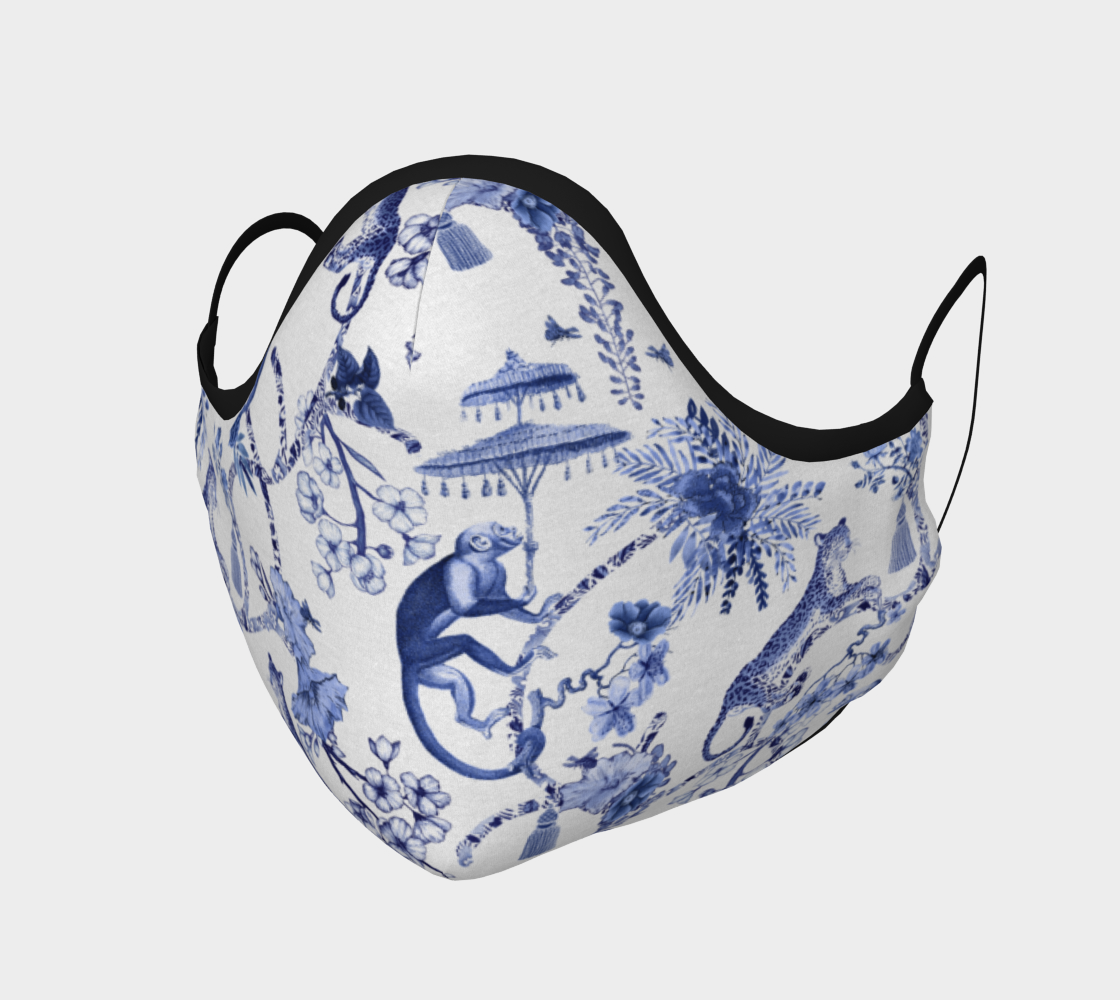 "Chinoiserie Face Covering Mask - ""Chinoiserie Whimsy"" preview"