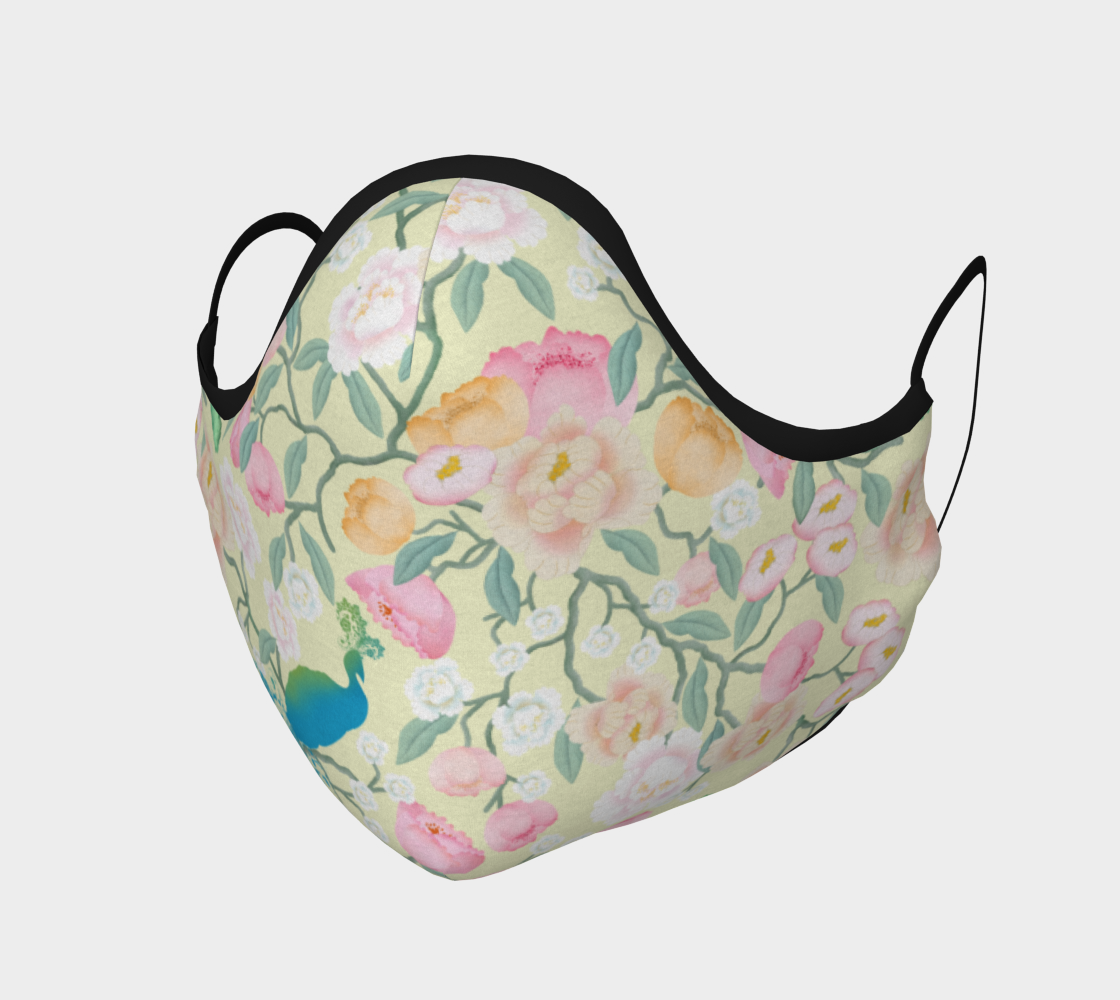 """Aperçu de Chinoiserie Face Covering Mask - """"Chinoiserie in Bloom"""""""