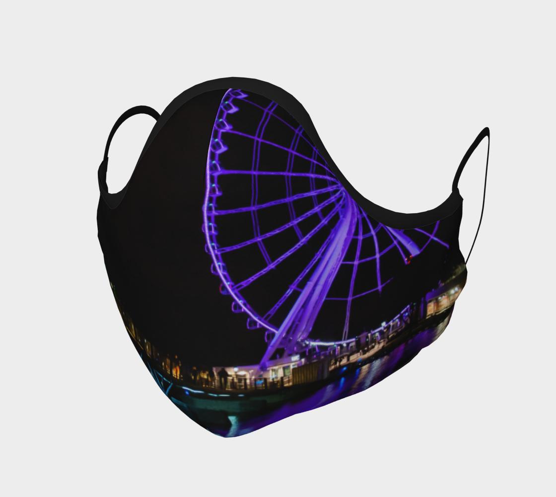 Aperçu de Vieux Montréal grande roue la nuit