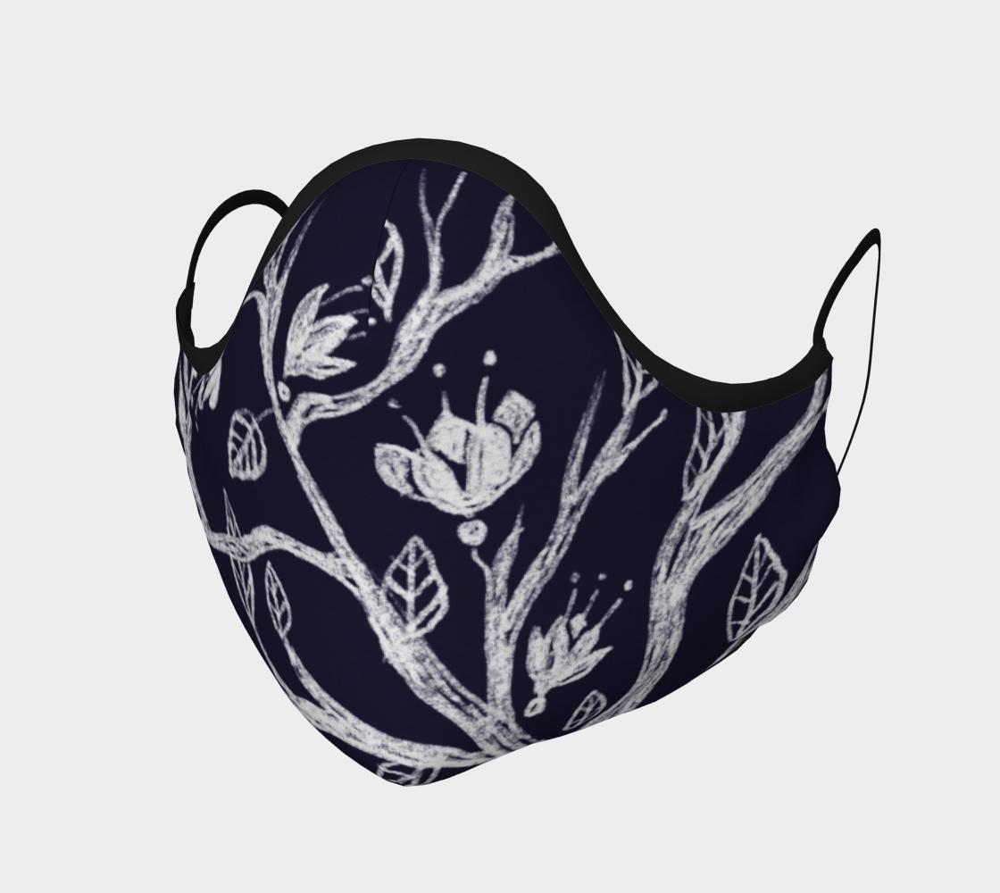 Masque Floral noir et blanc preview