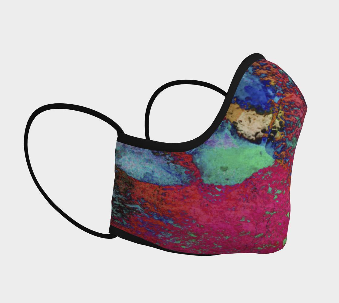 Aperçu de Paw Prints Colour Explosion Face Covering #3