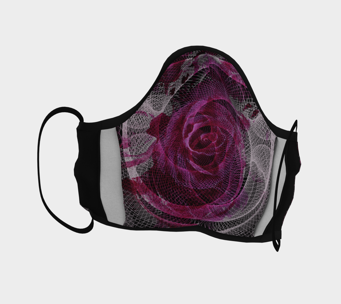 Rose Spiral Face Covering preview #4