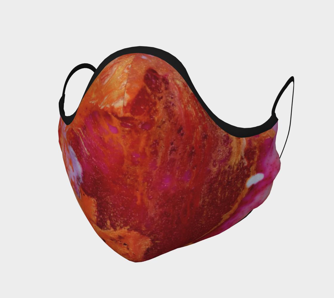 Aperçu de Couvre-visage Rouge abstrait