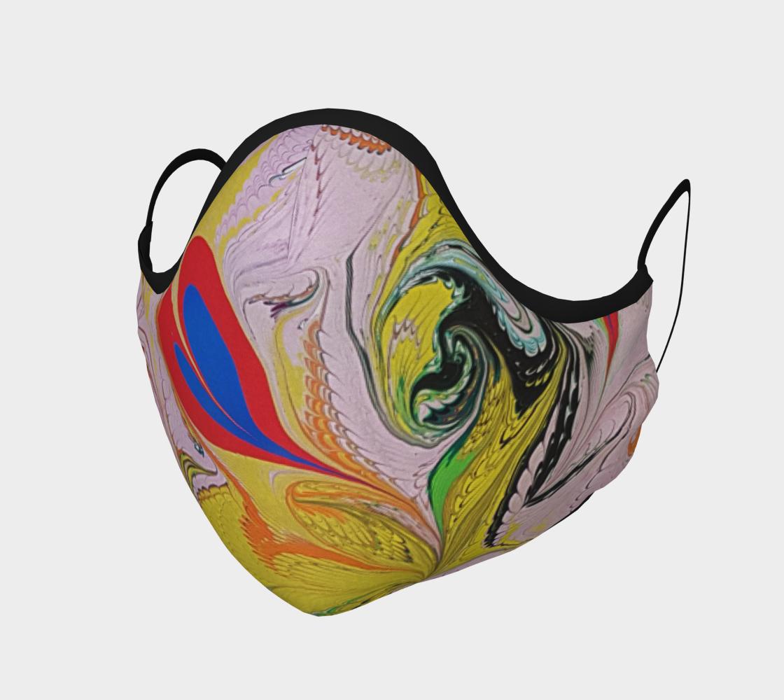 Masque de protection marbling design coeur preview