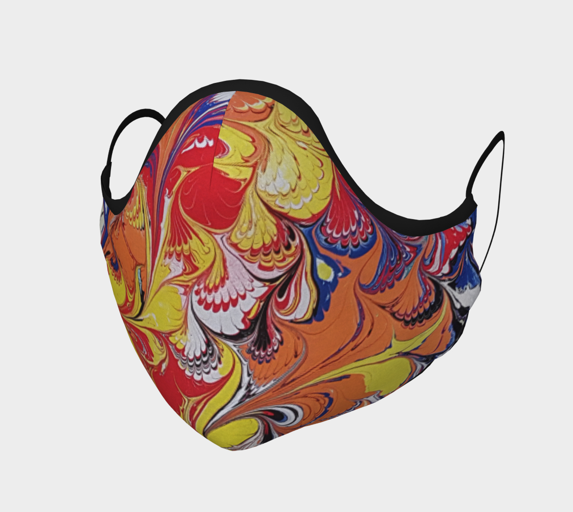 Aperçu de Masque de protection marbling art peacook
