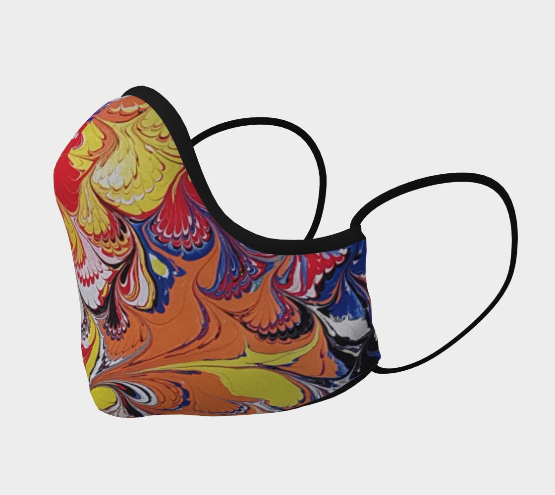 Aperçu de Masque de protection marbling art peacook #2