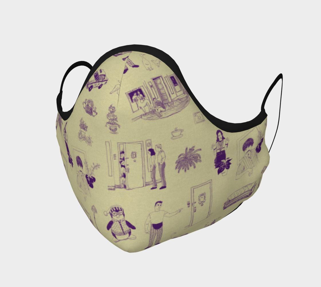 Aperçu de Friends Toile Face Mask