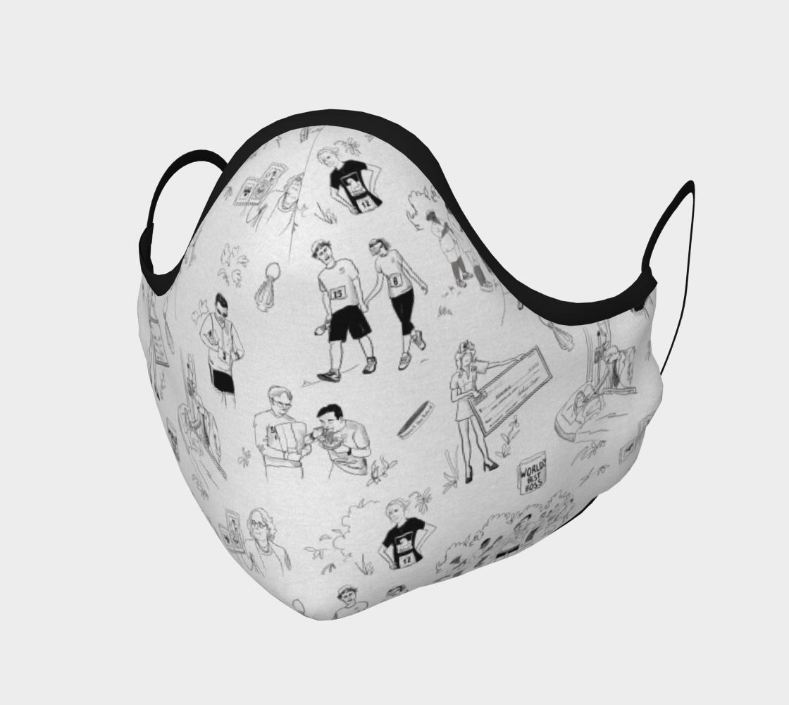 Aperçu de Office Fun Run - Dunder Mifflin Face Mask