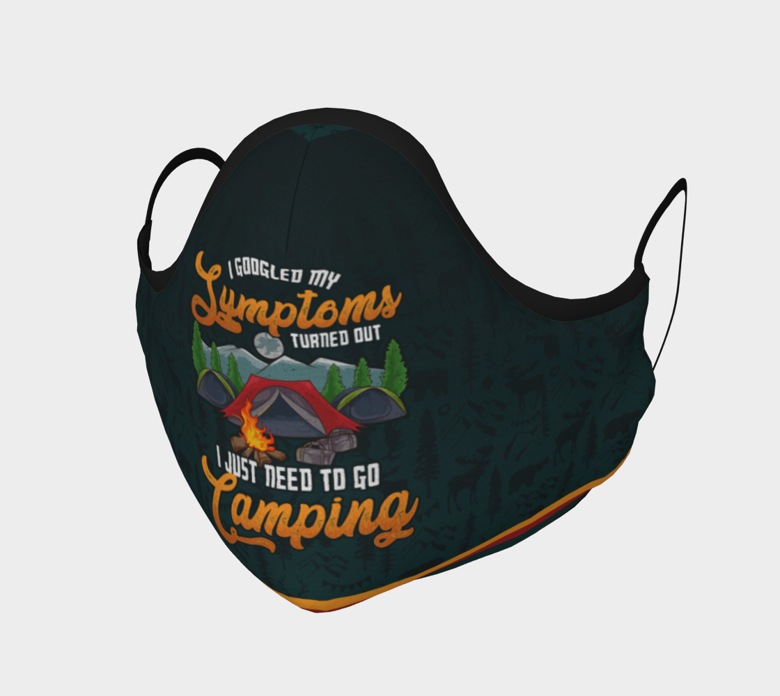 Funny Camping Face Mask preview