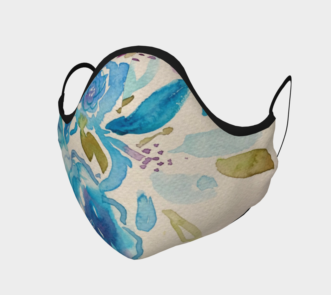 Masque Aquarelle florale bleue preview