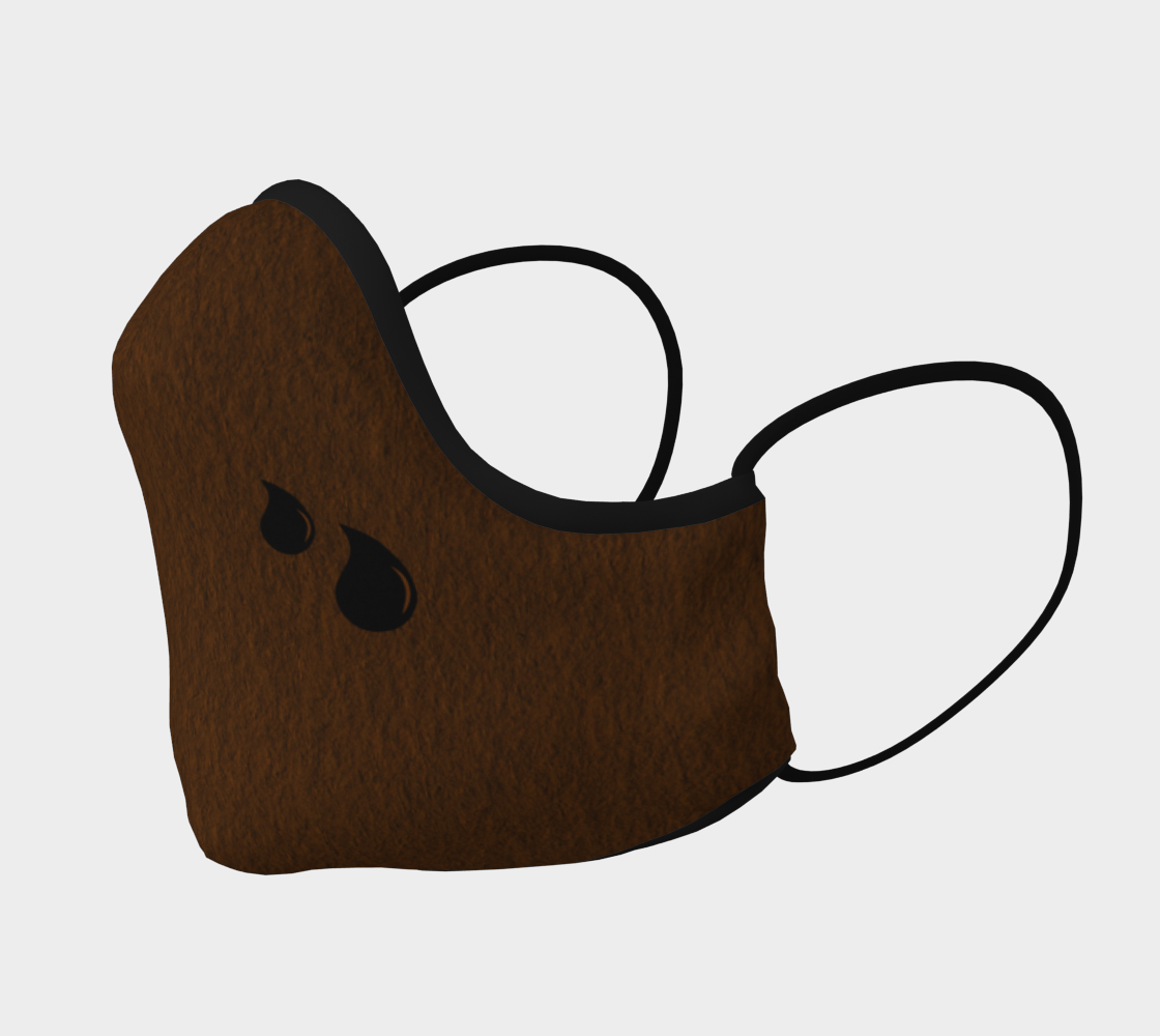 Brown Teardrop Mask preview #2