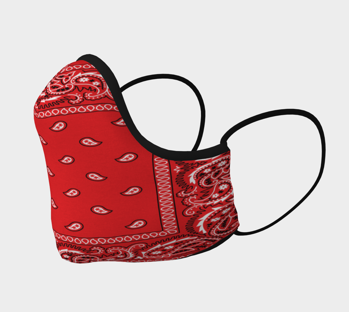 Red Bandana Facemask preview #2