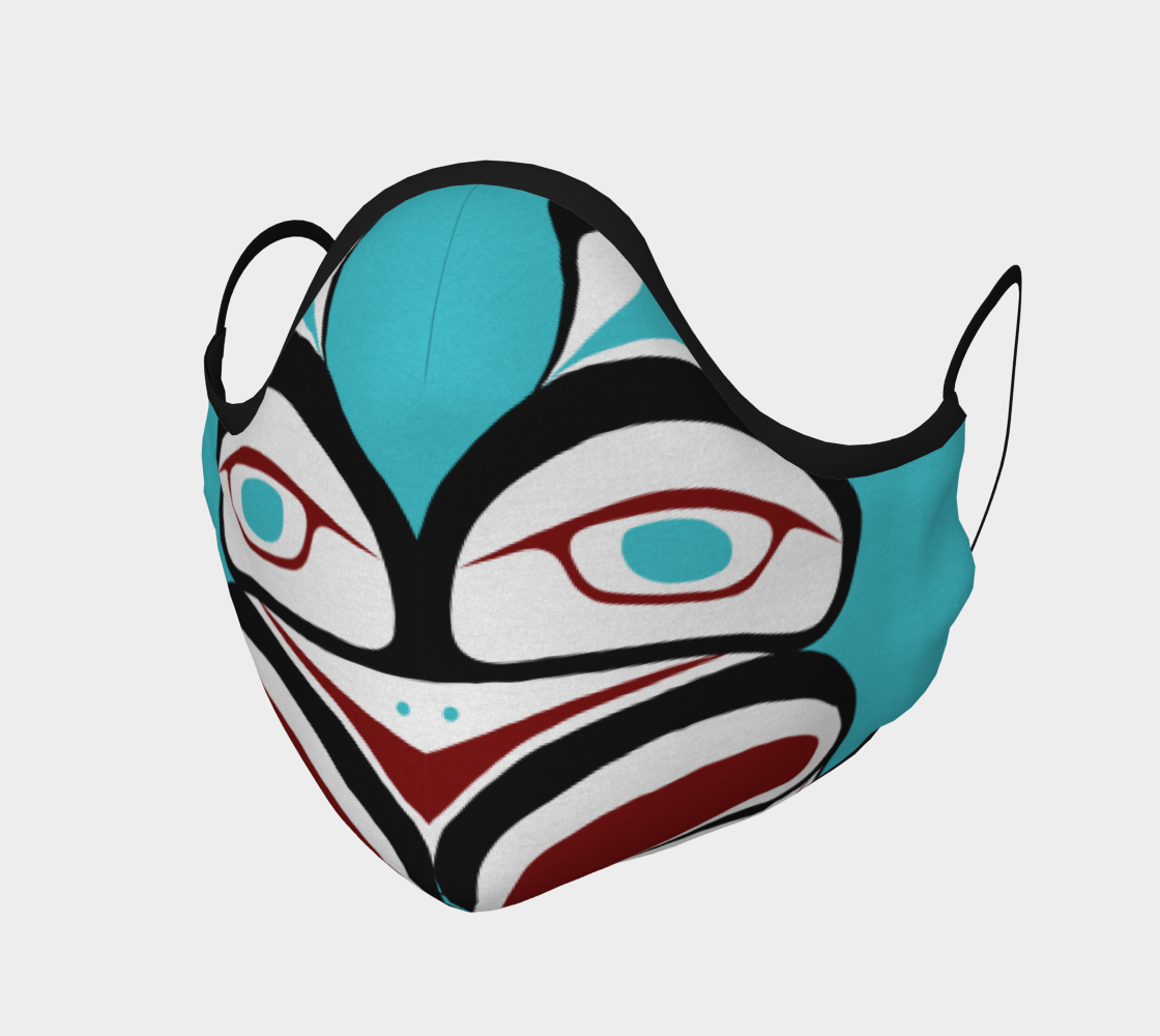 Inner Owl Pacific Northwest Formline  Face Mask preview #1