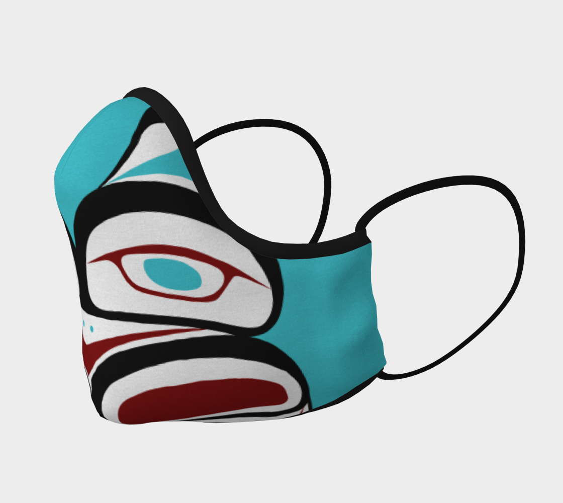 Inner Owl Pacific Northwest Formline  Face Mask preview #2