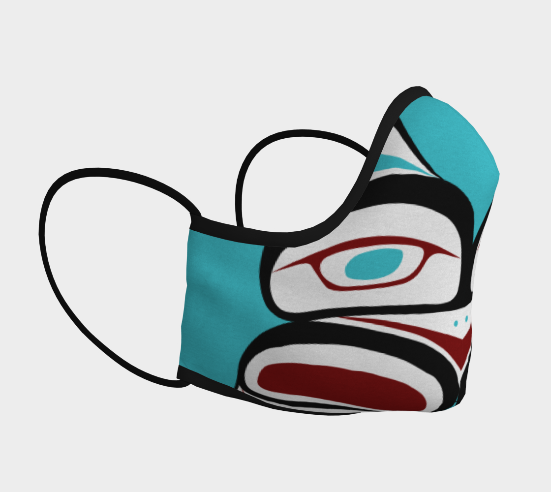 Inner Owl Pacific Northwest Formline  Face Mask preview #3