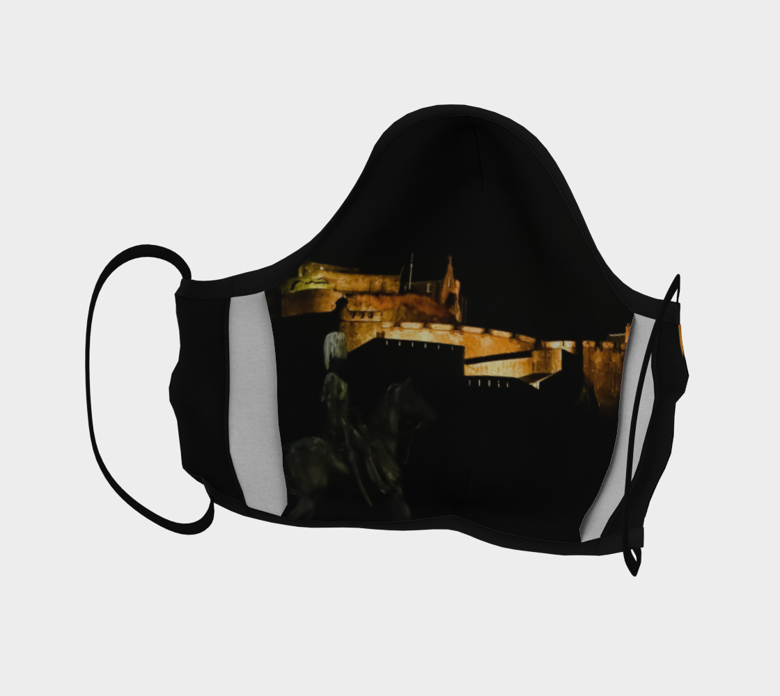Edinburgh Castle at Night Mask preview #4