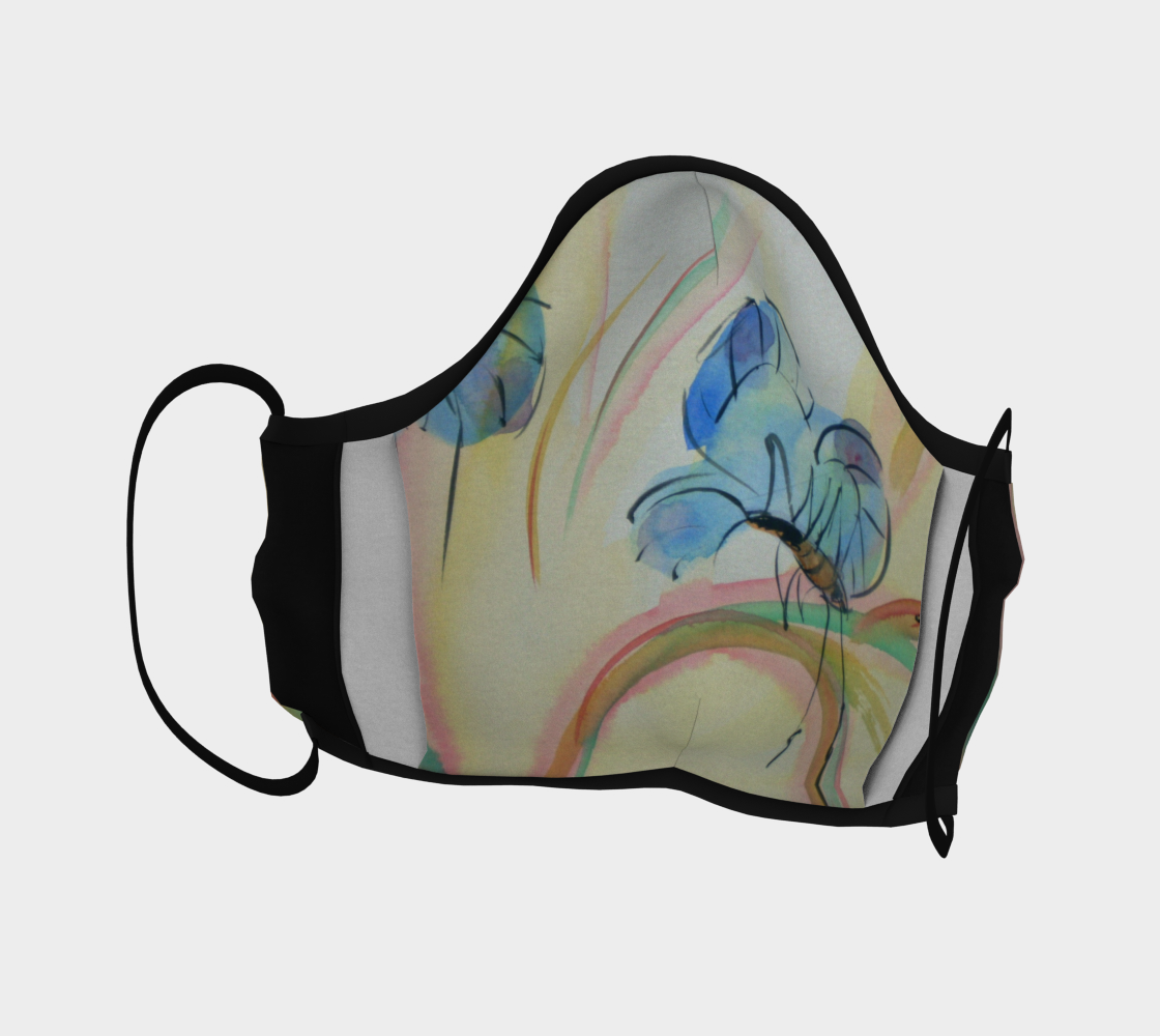 Watercolor Butterfly Face Mask  preview #4