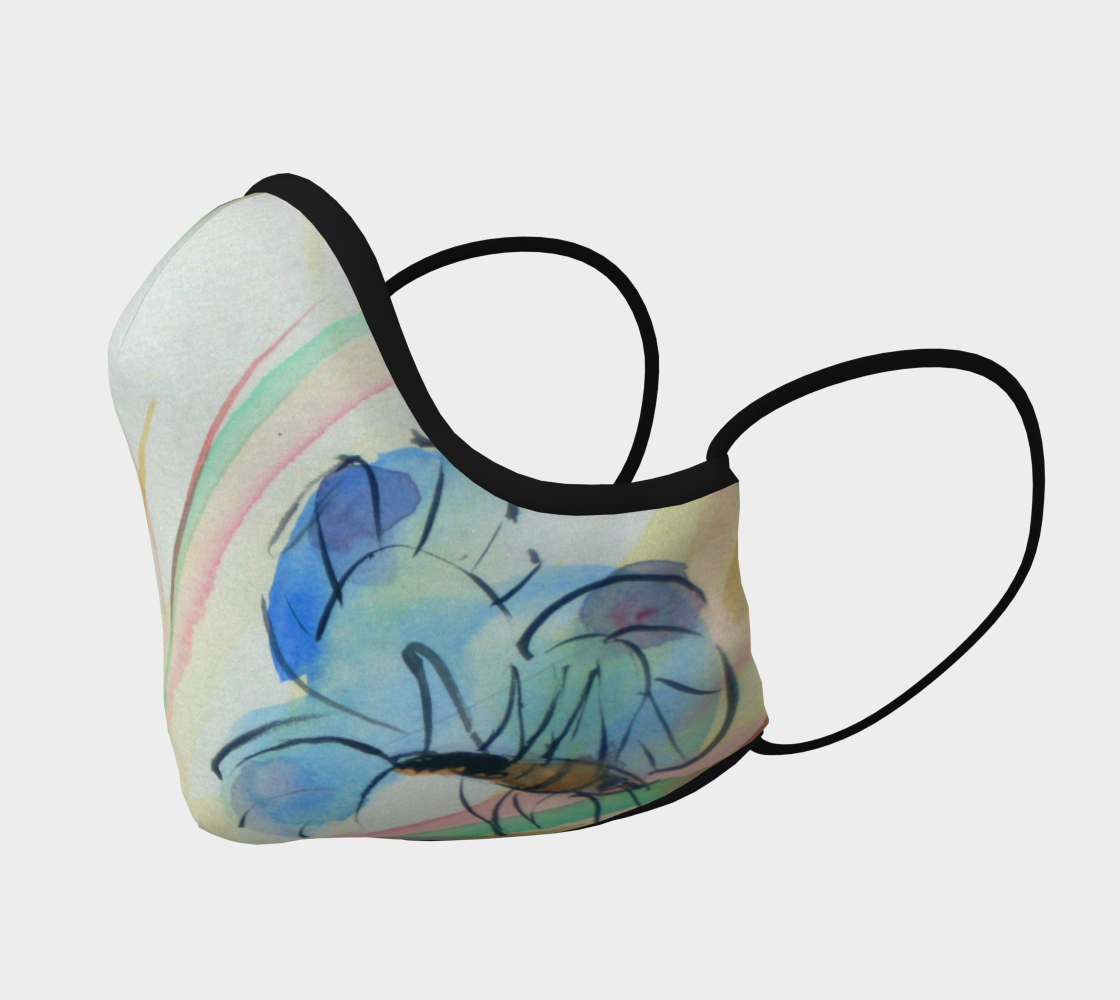 Watercolor Butterfly Face Mask  preview #2