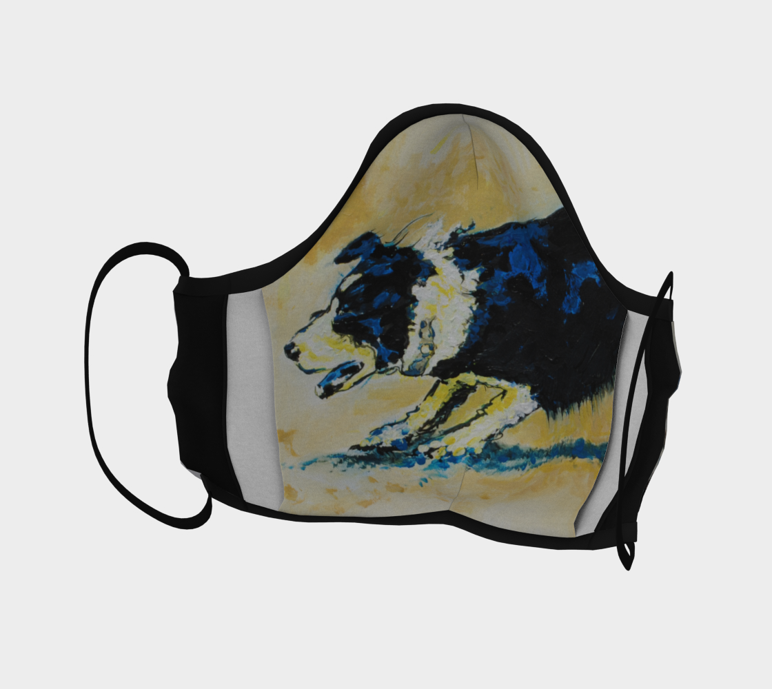 Horse On The Range Cattle Drive Face Mask preview #4