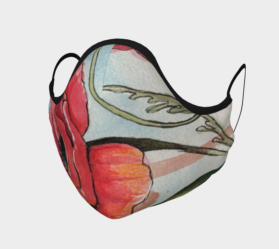 Red Poppy Watercolor Mask preview
