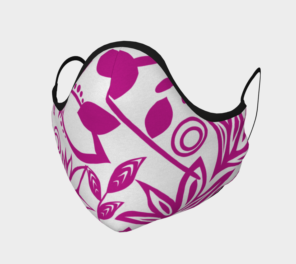 Pink Scandinavian Floral Face Mask preview #1