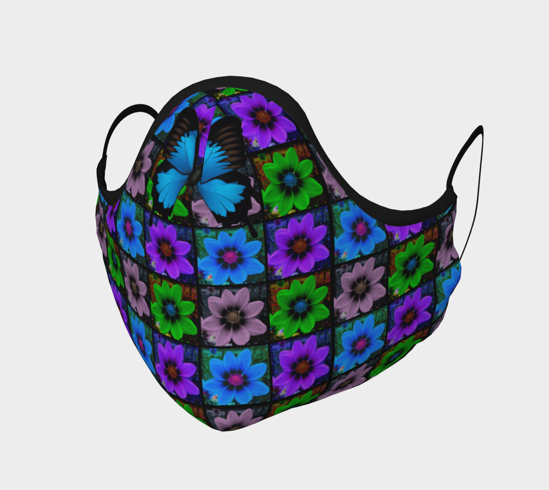 Face Mask Cosmos Flower Small Pattern & Butterfly, AOWSGD