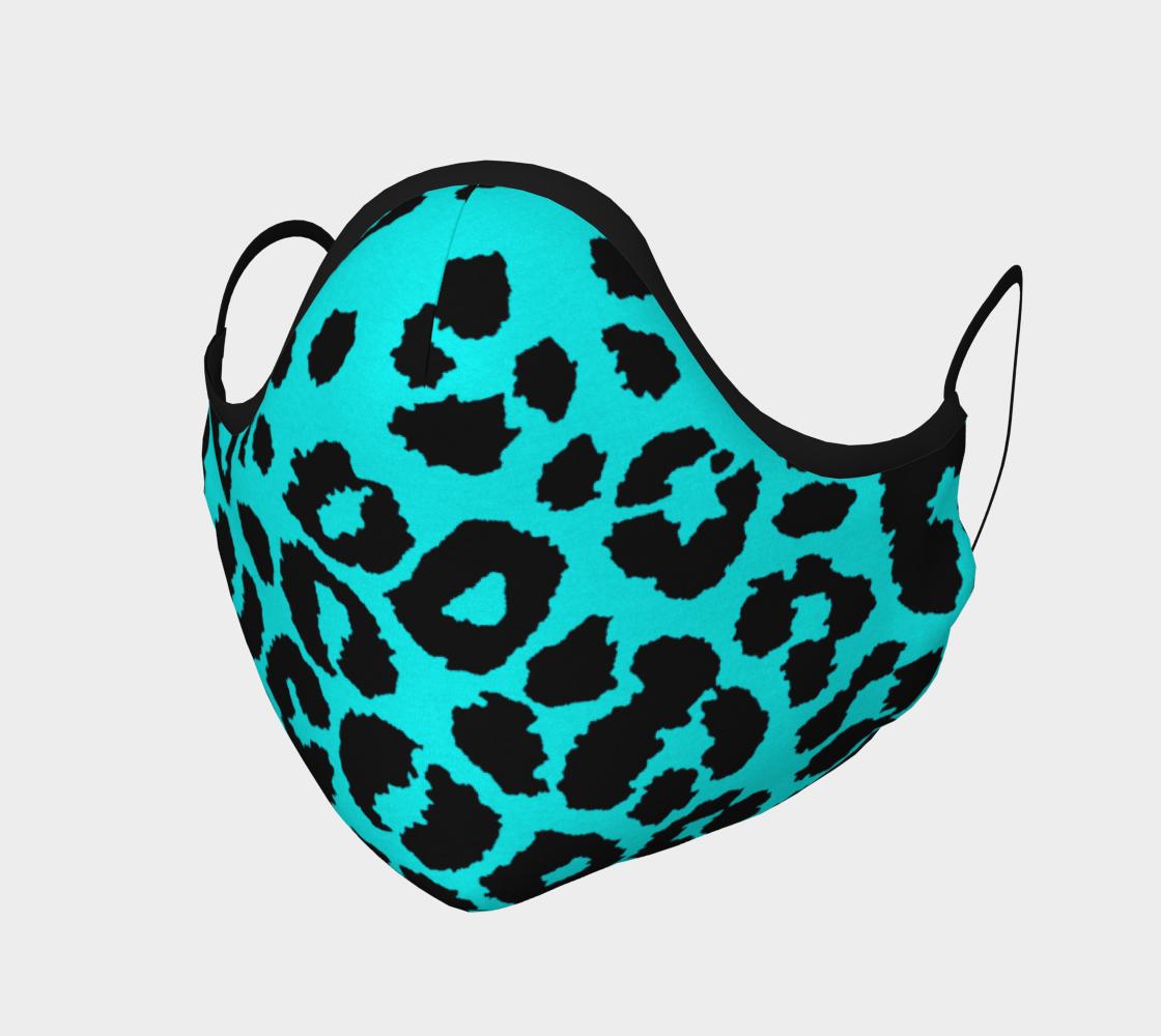 Aperçu de Blue Cheetah Print Protective Face Mask by VCD ©
