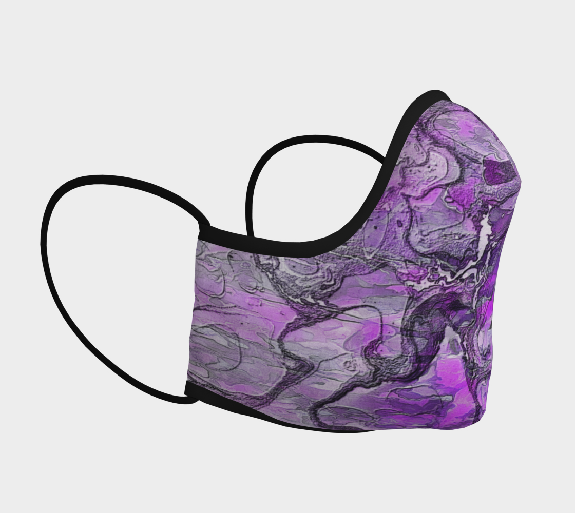 Purple Marble Face Covering preview #3