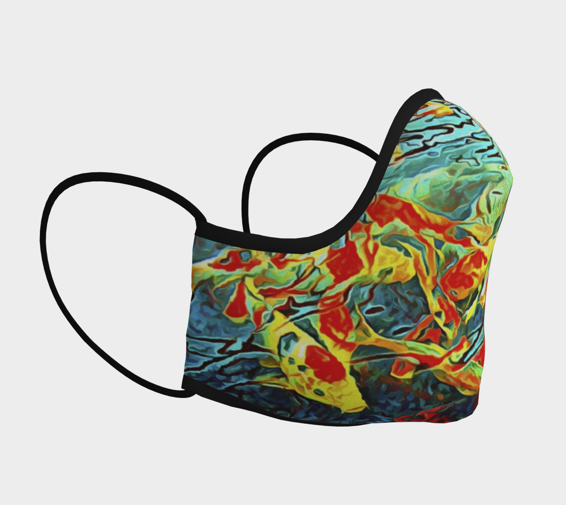 Koi Carp Abstraction Face Covering preview #3